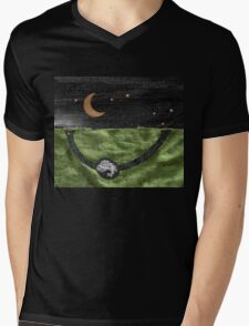 Rabbit and its Moon Mens V-Neck T-Shirt