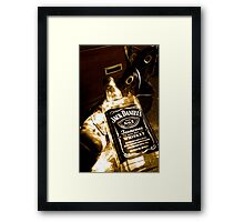 Whiskey too boot Framed Print