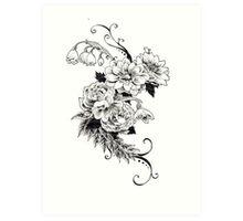 Flowers_sketch Art Print