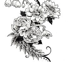 Flowers_sketch by RomanticEffect