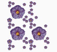 Purple Wildflower Baby Tee
