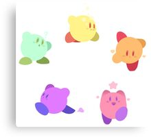 Rainbow Kirbys Canvas Print