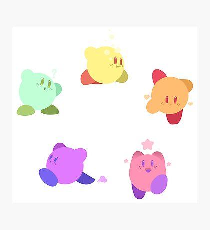 Rainbow Kirbys Photographic Print