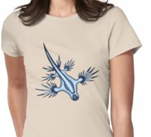 Blue Sea Dragon Nudibranch Womens Fitted T-Shirt