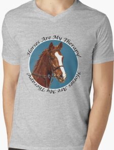 Horses Are My Therapy! T-Shirts & Hoodies Mens V-Neck T-Shirt