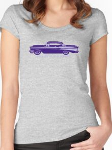57 Chevy (Blue) Women's Fitted Scoop T-Shirt