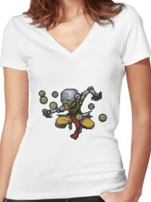 Pixel Zenyatta Women's Fitted V-Neck T-Shirt