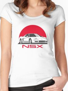 Honda NSX (white red) Women's Fitted Scoop T-Shirt