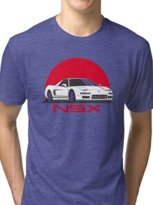 Honda NSX (white red) Tri-blend T-Shirt