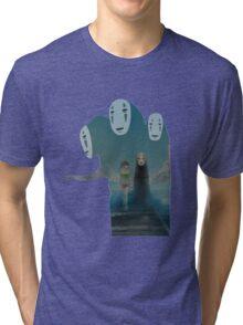 Kaonashi And Ogino Chihiro Spirited Away | Sen To Chihiro No Kamikakushi Tri-blend T-Shirt