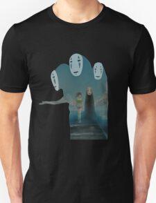 Kaonashi And Ogino Chihiro Spirited Away | Sen To Chihiro No Kamikakushi Unisex T-Shirt