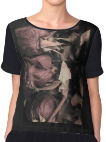 Soft Colored Roses Chiffon Top