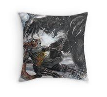 Werebear Battle Throw Pillow