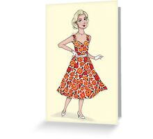 50's Girl Greeting Card