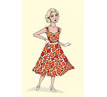 50's Girl Photographic Print