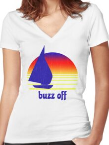 Buzz Off Women's Fitted V-Neck T-Shirt