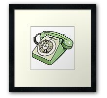 Retro Relic Telephone Modern Digital Pop Art Framed Print