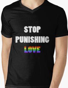 Stop Punishing Love Mens V-Neck T-Shirt