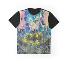 Superheros Type Font Series - Abstract Bat Pop Art Comic Graphic T-Shirt