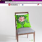 scribblertoo rose cushion by KazM