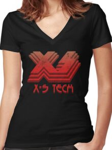 X-S Tech Corporate Logo Women's Fitted V-Neck T-Shirt