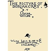 Picture of Dorian Gray 1809 Cover Photographic Print