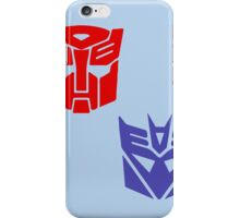 Transformers checkered insignia iPhone Case/Skin