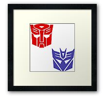 Transformers checkered insignia Framed Print