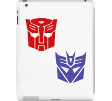 Transformers checkered insignia iPad Case/Skin
