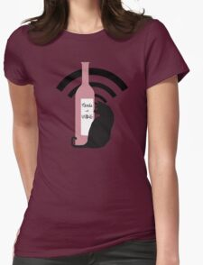 Nerds with Wine Icon Womens Fitted T-Shirt