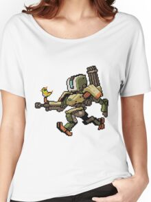 Pixel Bastion Women's Relaxed Fit T-Shirt