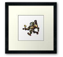 Pixel Bastion Framed Print