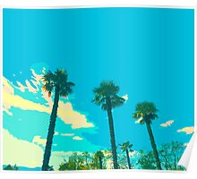 Palm trees lined up Poster
