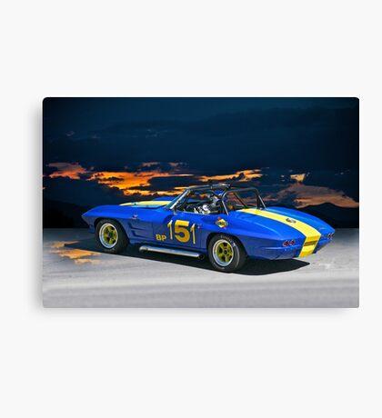 1964 Corvette Vintage Racecar I Canvas Print