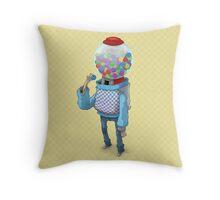 Bubblegum Machine Throw Pillow