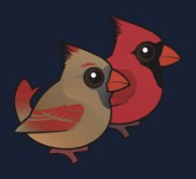 Birdorable Northern Cardinal Pair One Piece - Short Sleeve