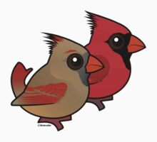 Birdorable Northern Cardinal Pair One Piece - Short Sleeve