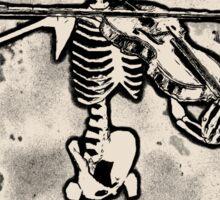 Knochengeiger – bleached creme white Sticker