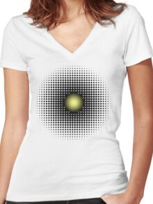 PULSATIONS Women's Fitted V-Neck T-Shirt