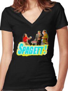Spagett! Women's Fitted V-Neck T-Shirt