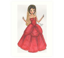 Princess Dress Illustration Art Print