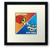 Super horn vs Blue Shell 2 Framed Print