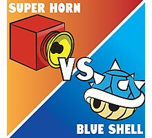 Super horn vs Blue Shell 2 Photographic Print