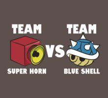 Team super horn vs team blue shell Kids Clothes