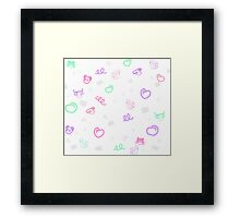 colorful cute animals! Framed Print