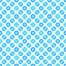Retro Pastel Blue Circles by donnagrayson