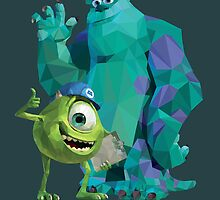 Mike & Sulley Monsters Inc by Peter Spencer