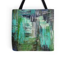 AQUATIC COMMOTION in Color - Textural Ocean Beach Nautical Abstract Acrylic Painting Wow Winter Xmas Tote Bag