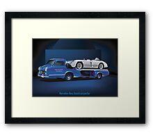 Mercedes-Benz Rennwagen-Schnelltransporter Framed Print