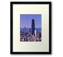 Chicago Skyline, 1968, John Hancock Centre. Framed Print